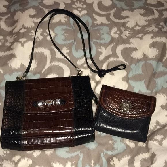 b418bf0fb5e Brighton organizer crossbody & wallet black/brown
